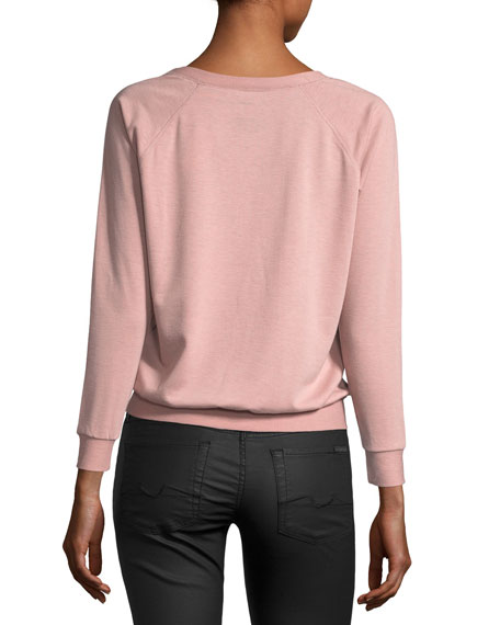 As If Long-Sleeve Relaxed Tee, Pink