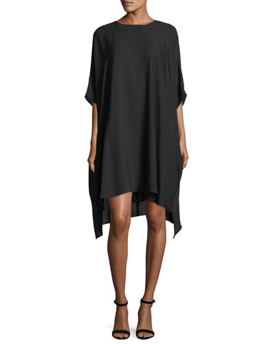 Silk Georgette Draped Dress