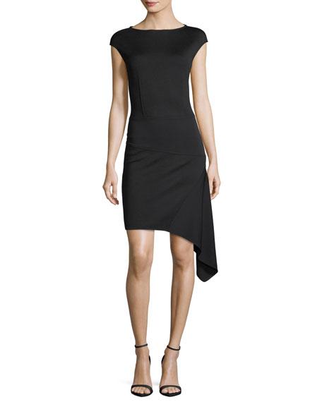 St. John Collection Milano-Knit Bateau-Neck Dress