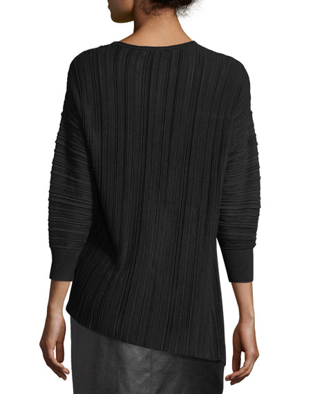 Plisse Knit Sweater