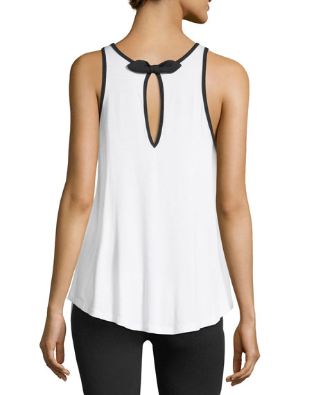 x kate spade new york leaf-bow circle performance tank