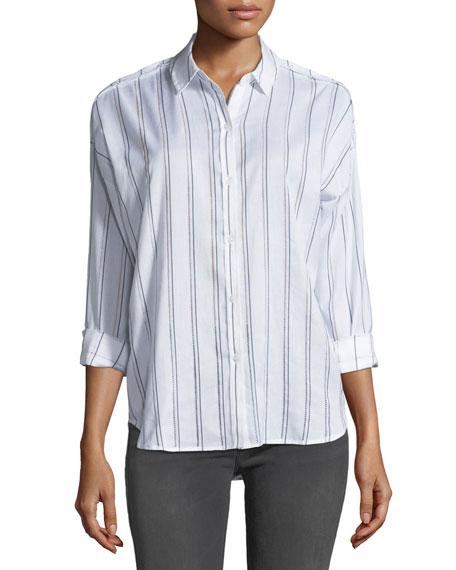 Rails Josephine Striped Button-Front Shirt