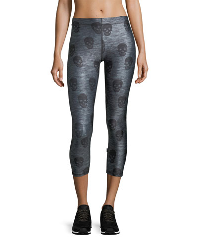 Skull Star Power Capri Performance Leggings