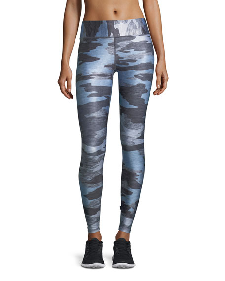 Heathered Camo Tall-Band Performance Leggings