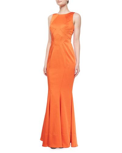 Lydia Sleeveless Satin Mermaid Gown