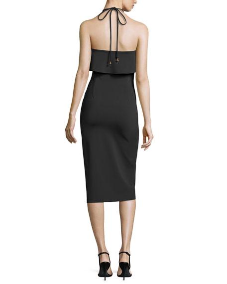 Soozy Stretch Halter Cocktail Dress