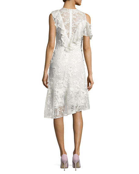 Pointe Asymmetric Lace Cocktail Dress