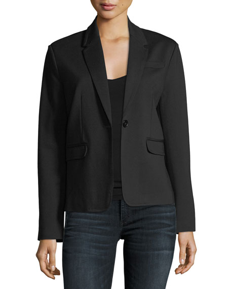 Ponte-Knit Blazer Jacket