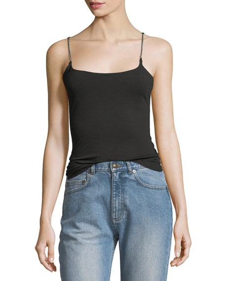 T by Alexander Wang Luxe Ponte Scoop-Neck Camisole