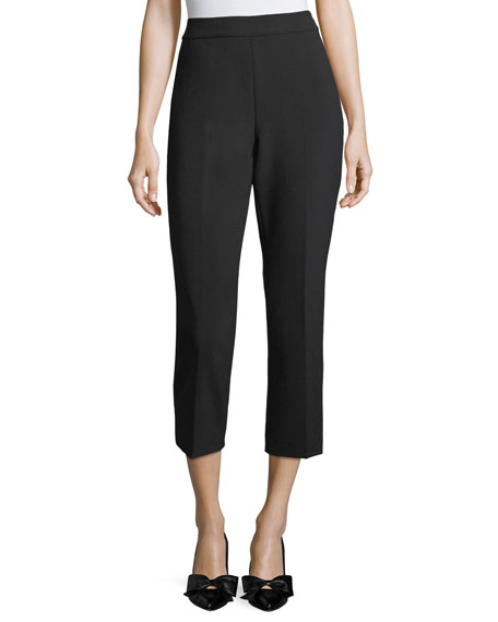 kate spade new york cropped polished cigarette pants