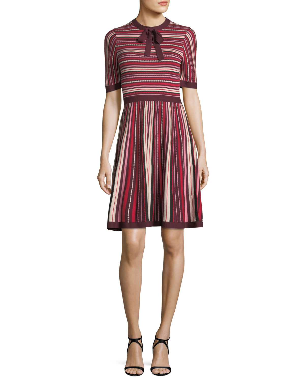 dd85e6f0f9dc kate spade new york short-sleeve multi-stripe sweater dress
