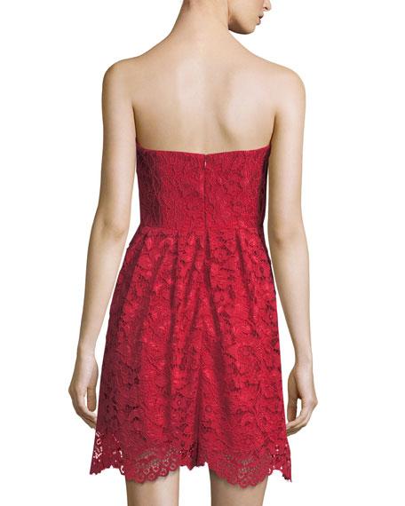 Smitten Strapless Lace Dress