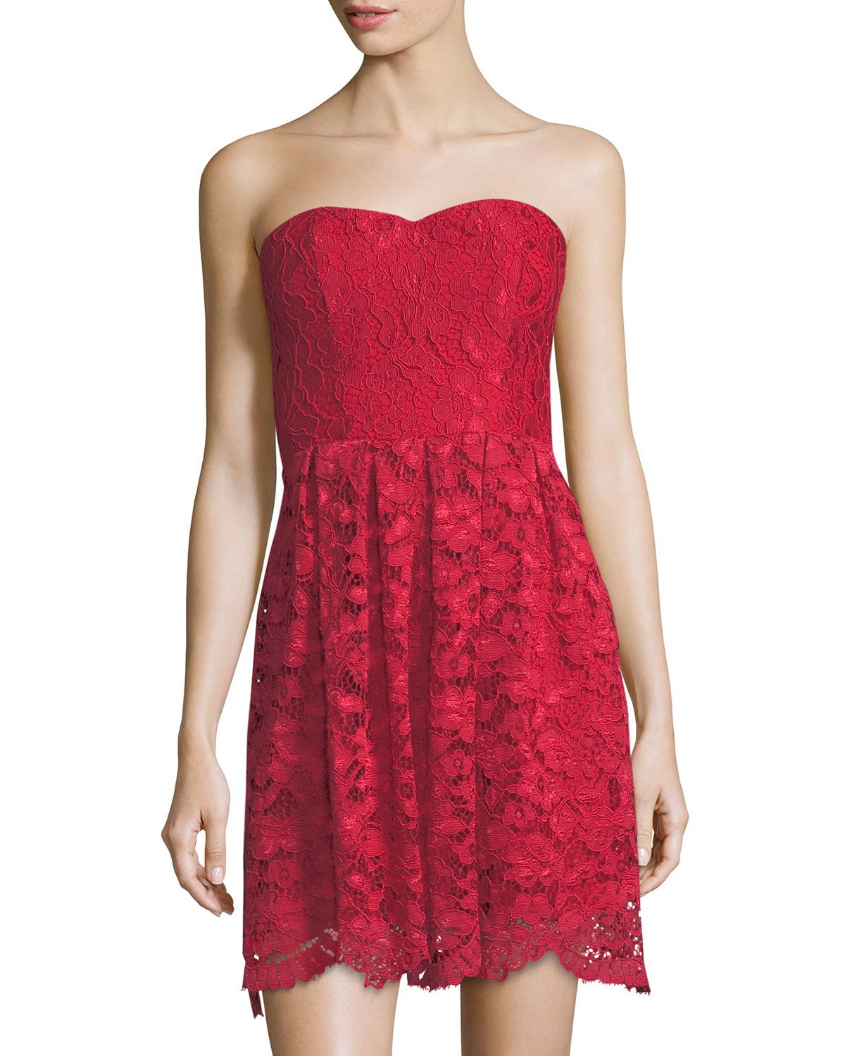 Lovers And Friends Smitten Strapless Lace Dress | Neiman ...