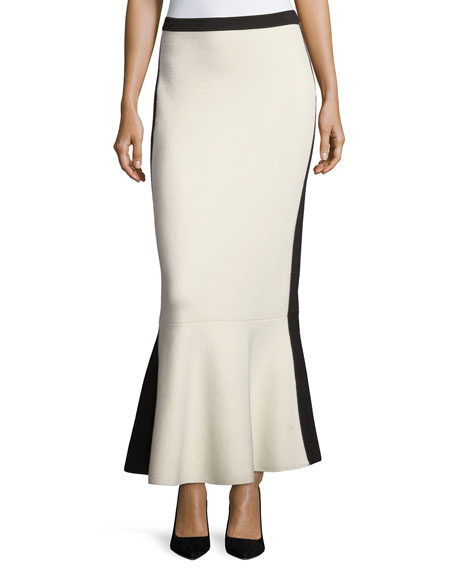 Diane von Furstenberg Pull-On Knit Flared-Hem Wool Maxi