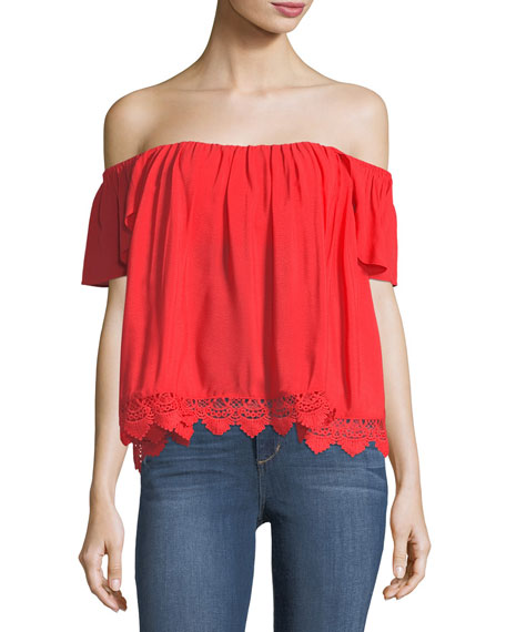 Lovers And Friends Life's A Beach Off-the-Shoulder Blouse
