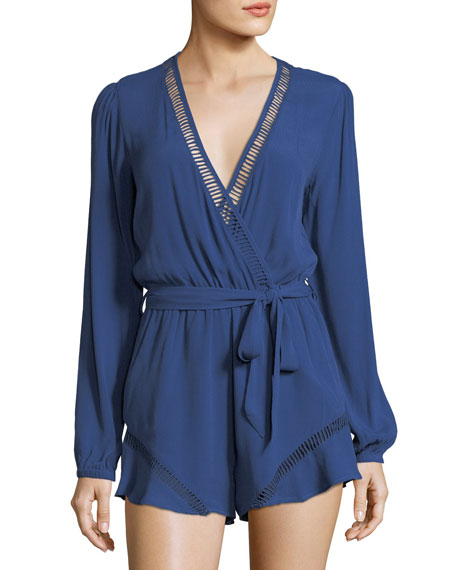 Lovers And Friends Oceanview Long-Sleeve V-Neck Romper