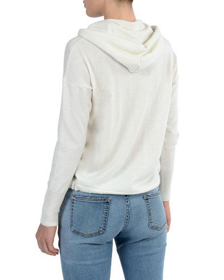 Zip-Front Cashmere Hoodie