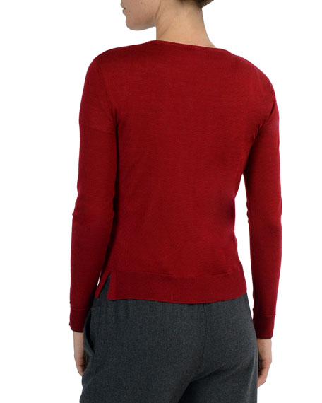 Merino/Silk Crewneck Sweater