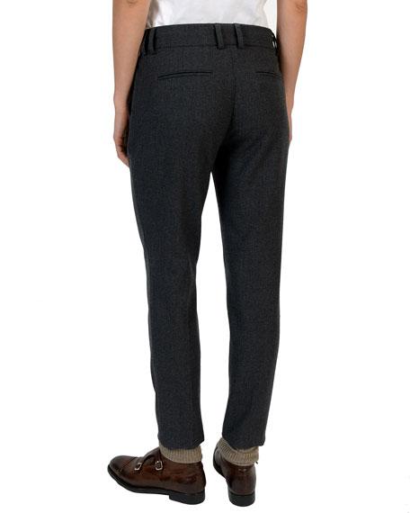 Slim-Leg Stretch-Wool Trousers