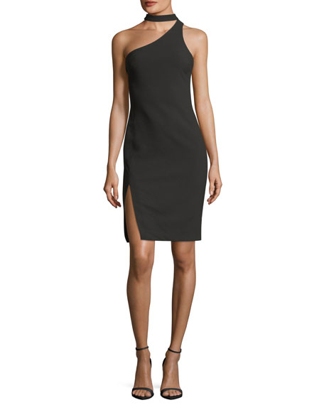 Likely Adelaide One-Shoulder Fitted Crepe Cocktail Dress