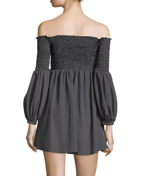 Manning Off-the-Shoulder Mini Dress