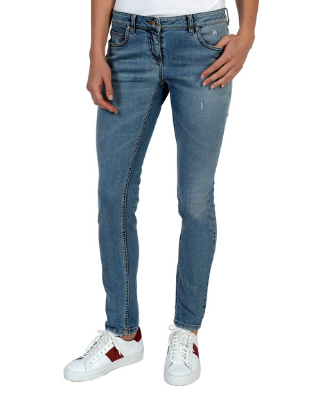 Eleventy Mid-Rise Slim-Leg Jeans and Matching Items