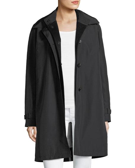 3-in-1 Button-Front Rain Coat