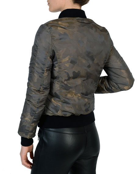 Glam Camo Bomber Jacket