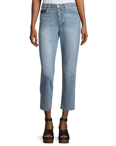The Debbie High-Rise Straight-Leg Crop Jeans