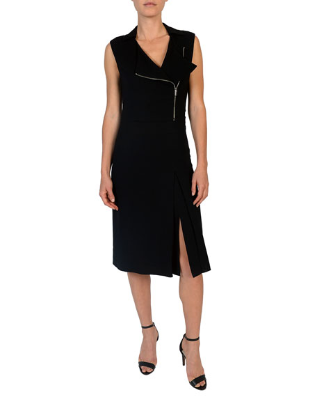 Eleventy Sleeveless Moto Dress