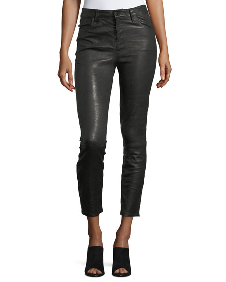 J Brand Ruby Lamb Leather Skinny-Leg Pants