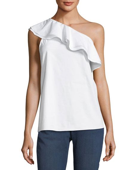Ruffled One-Shoulder Top
