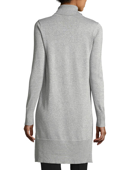 Turtleneck Metallic Sweater