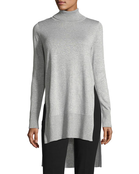 Turtleneck Metallic Sweater