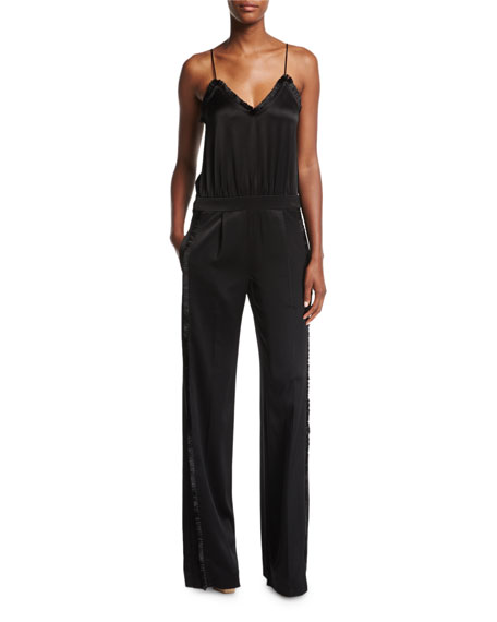 Derek Lam 10 Crosby Cami Sateen Wide-Leg Jumpsuit