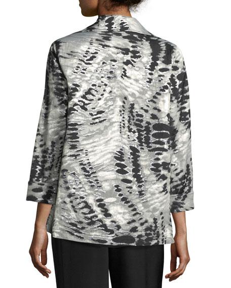 Abstract Animal-Print Jacket