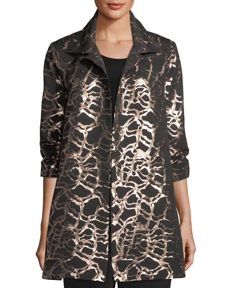 Caroline Rose Pop the Cork Jacquard Party Jacket
