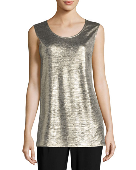 Caroline Rose Reflection Knit Tank, Petite