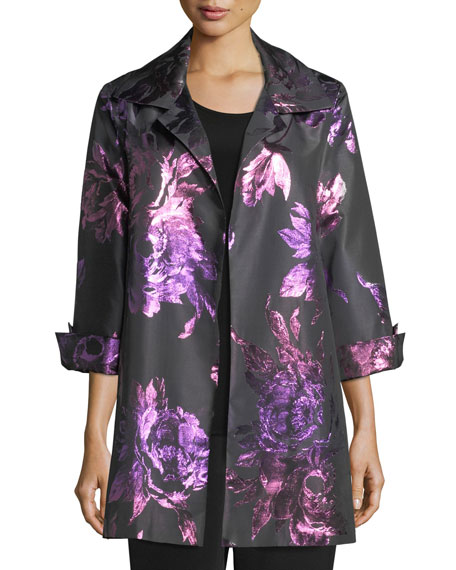 Caroline Rose Twilight Blooms Party Jacket, Petite and