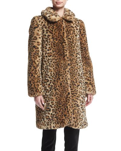 Kinsley Faux-Fur Oversized Long Coat