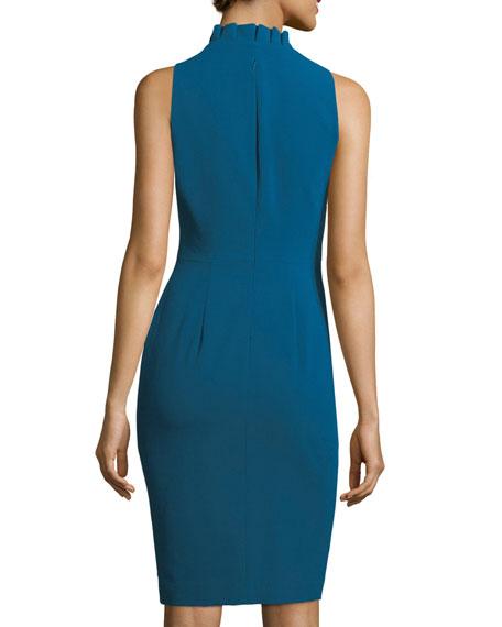 Antoinette Sleeveless Stretch Crepe Sheath Dress
