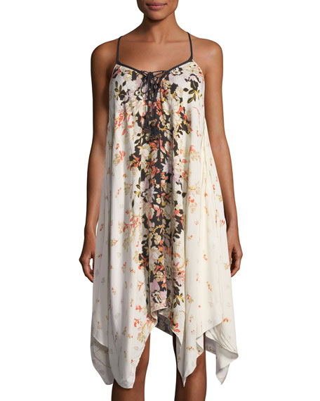Band of Gypsies Floral-Print Sleeveless Midi Dress