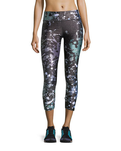 Terez Paint the Town Tall Band Performance Capri Leggings