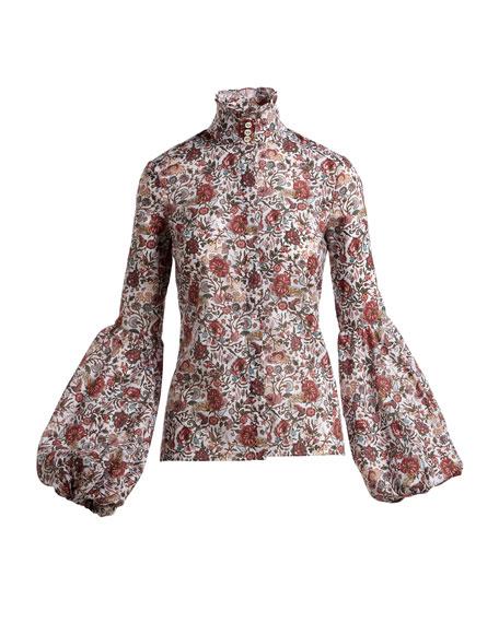 Jaqueline Puff-Sleeve Blouse