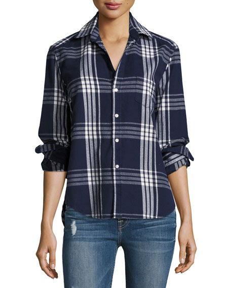 Frank & Eileen Eileen Button-Front Plaid Cotton Shirt