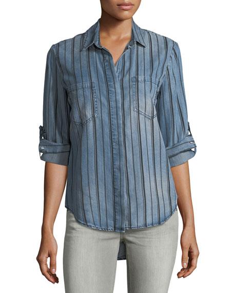 Velvet Heart Striped Denim Shirt