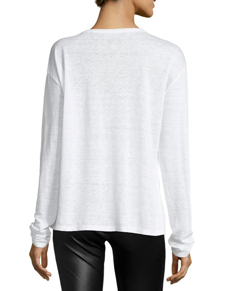 Willy Rock & Roll Long-Sleeve Linen Top