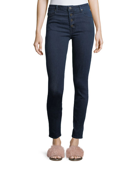 Parker Smith Bombshell Skinny Button-Fly Jeans
