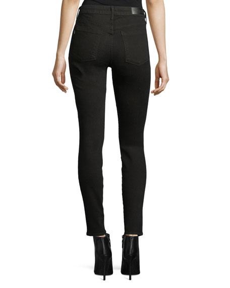 Ava Scattered-Stud Skinny Jeans