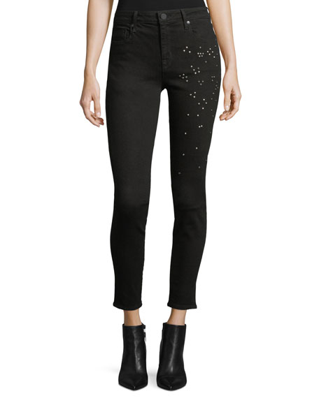 Parker Smith Ava Scattered-Stud Skinny Jeans